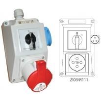 Zestaw instalacyjny 0-I 16A/4 1x230V ZI03R111
