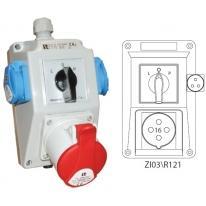 Zestaw instalacyjny L-0-P 16A/4 1x230V ZI03R121