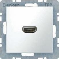 Berker Kwadrat biały - gniazdo HDMI Berker