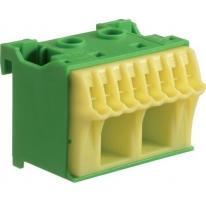Blok samozacisków ochronny zielony 10-zaciskowy KN10E Hager