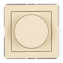 Deco (beżowy) - elektroniczny regulator oświetlenia przyciskowo-obrotowy