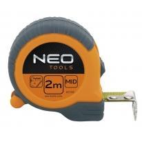 Miara zwijana stalowa, magnetyczna końcówka 8m x 25mm 67-111 NEO TOOLS