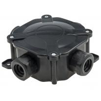 Puszka natynkowa hermetyczna PG16/5x4 mm2 czarna - A.0035C Pawbol