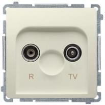 Basic moduł (beżowy) - gniazdo antenowe RTV przelotowe BMZAP10/1.01/12