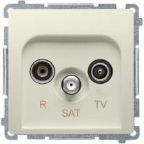 Basic moduł (beżowy) - gniazdo antenowe RTV-SAT końcowe BMZAR-SAT1.3/1.01/12
