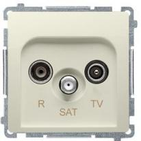 Basic moduł (beżowy) - gniazdo antenowe RTV-SAT przelotowe BMZAR-SAT10/P.01/12
