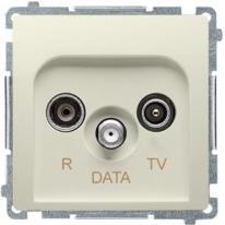 Basic moduł (beżowy) - gniazdo RTV-DATA BMAD.01/12