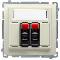 Basic moduł (beżowy) - gniazdo głośnikowe BMGL3.01/12