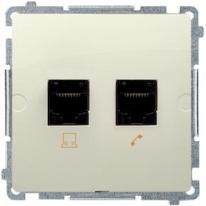 Basic moduł (beżowy) - gniazdo komp. + tele. BMF5T.02/12