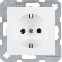 Berker Kwadrat/B.1/B.3/B.7 (biały) - gniazdo pojedyncze SCHUKO