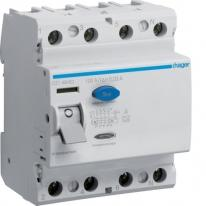 Wyłącznik różnicowoprądowy CD484D 100A 30mA A 4P Hager Hager