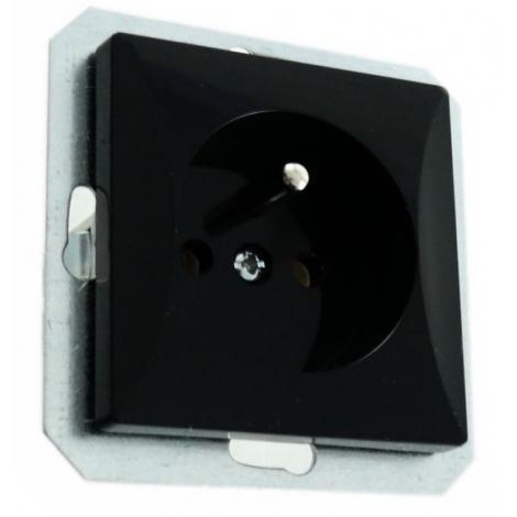Abex Perła czarny mat - gniazdo pojedyncze (+0) PT-16P Abex