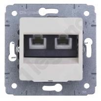 Cariva (biały) - gniazdo telefoniczne RJ 11 (x2)