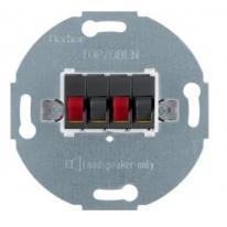 Berker One.Platform - gniazdo głośnikowe podwójne antracyt
