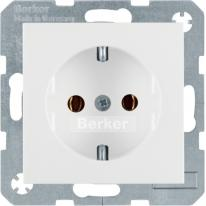 Berker B3/B7 biały mat - gniazdo SCHUKO Berker