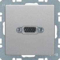 Berker Q1/Q3/Q7 aluminium - gniazdo VGA Berker