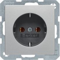 Berker Q1/Q3/Q7 aluminium - gniazdo SCHUKO Berker