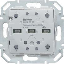 Hager KNX easy B. Q.1/Q.3 K.1/K.5 - Moduł przycisku 2-krotny z portem magistralnym diodami LED RGB i czujnikiem temperatury H...