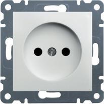 Hager Lumina biały - gniazdo bez uziemienia Hager