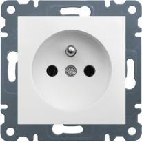 Lumina 2 (biały) - gniazdo z uziemieniem