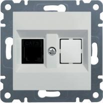 Hager Lumina biały - gniazdo telefoniczne x1 Hager
