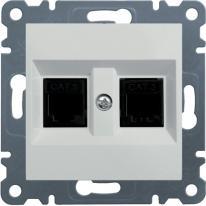 Hager Lumina biały - gniazdo telefoniczne x2 Hager
