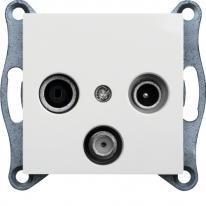 Hager Lumina biały - gniazdo RTV-SAT przelotowe Hager