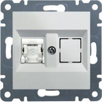 Hager Lumina 2 biały - gniazdo komputerowe x1 Hager