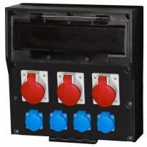 Rozdzielnica gumowa LIDO 18S 3x16A 5p 4x250V F-ELEKTRO