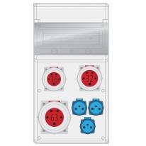 Rozdzielnica MAX BOX-11S 1x63/5, 1x32/5, 1x16/5, 3x230V IP65 - B.MAX-11S-1 Pawbol