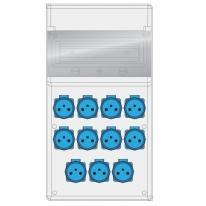 Rozdzielnica MAX BOX-11S 11x230V IP65 - B.MAX-11S-9 Pawbol