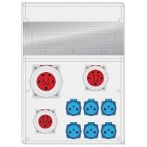 Rozdzielnica MAX BOX-16S 1x63/5, 1x32/5, 1x16/5, 6X250V IP65 - B.MAX-16S-1 Pawbol