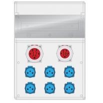 Rozdzielnica MAX BOX-16S 1x32/5, 1x16/5, 6X250V IP65 - B.MAX-16S-2 Pawbol