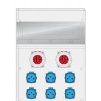 Rozdzielnica MAX BOX-16S 2x16/5, 6x250V IP65 - B.MAX-16S-4 Pawbol