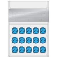 Rozdzielnica MAX BOX-16S 15x230V IP65 - B.MAX-16S-9 Pawbol
