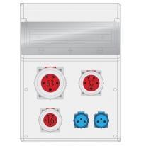 Rozdzielnica MAX BOX-16S 1x63/5,1x32/5,1x16/5, 2x250V IP65 - B.MAX-16S-10 Pawbol