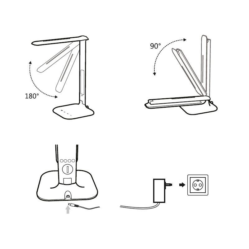 lampa biurkowa led desk lamp z wy u015bwietlaczem lald4w tracon electric