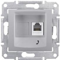 Schneider Sedna aluminium - gniazdo telefoniczne 1 Schneider Electric
