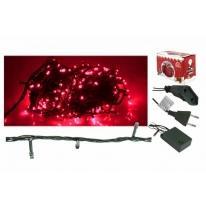 Lampki choinkowe LED 100 z gniazdem, czerwone - AS109 Rumlux