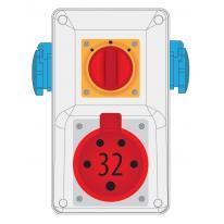 Rozdzielnica R-BOX KOMPAKT 32A/5 2x250V wył. 0/1 - B.325/2/01