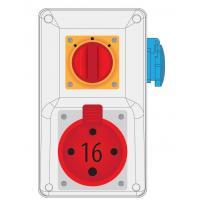 Rozdzielnica R-BOX KOMPAKT 16A/4 1x250V wył. 0/1 - B.164/1/01
