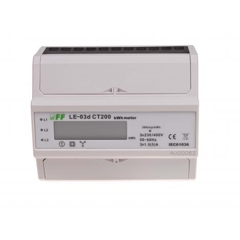 Licznik energii elektrycznej 3-fazowy LE-03d CT-200 F&F