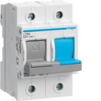 Rozłącznik bezpiecznikowy poziomy D02 1P+N 63A 400V L75M