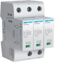 Ogranicznik przepięć 3P ze stykiem sygnalizacyjnym, MOV T1+T2, 12,5 kA, TN-C - SPN900R Hager