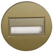Ledix - oprawa LED Sona okrągła PT 14V DC stare złoto