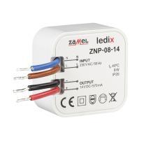 Ledix - zasilacz dopuszkowy 8W 14V DC - ZNP-08-14 Zamel