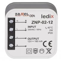 Ledix - zasilacz dopuszkowy 2W 12V DC - ZNP-02-12 Zamel
