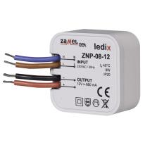 Zasilacz LED dopuszkowy 8W 12V DC - ZNP-08-12 Zamel