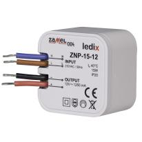 Zasilacz LED dopuszkowy 15W 12V DC - ZNP-15-12 Zamel