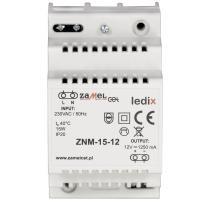 Ledix - zasilacz modułowy 15W 12V DC - ZNM-15-12 Zamel